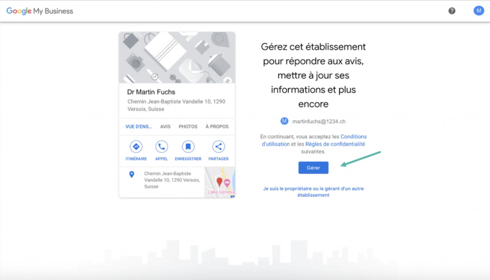 Google My Business - Google - étape 2