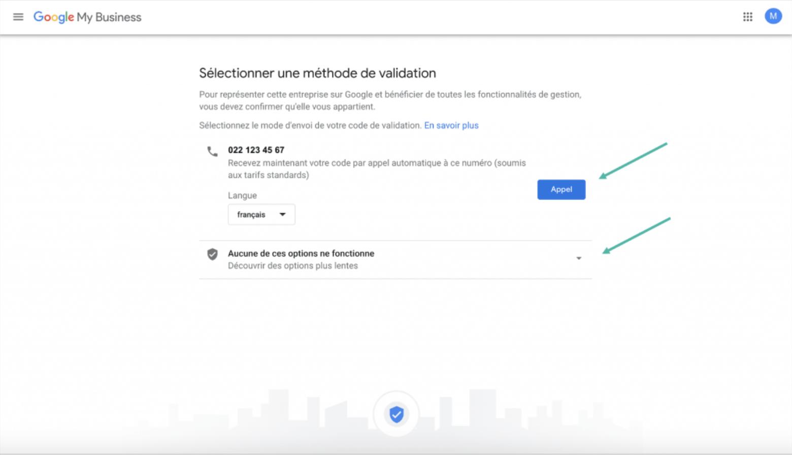 Google My Business - Google - étape 3