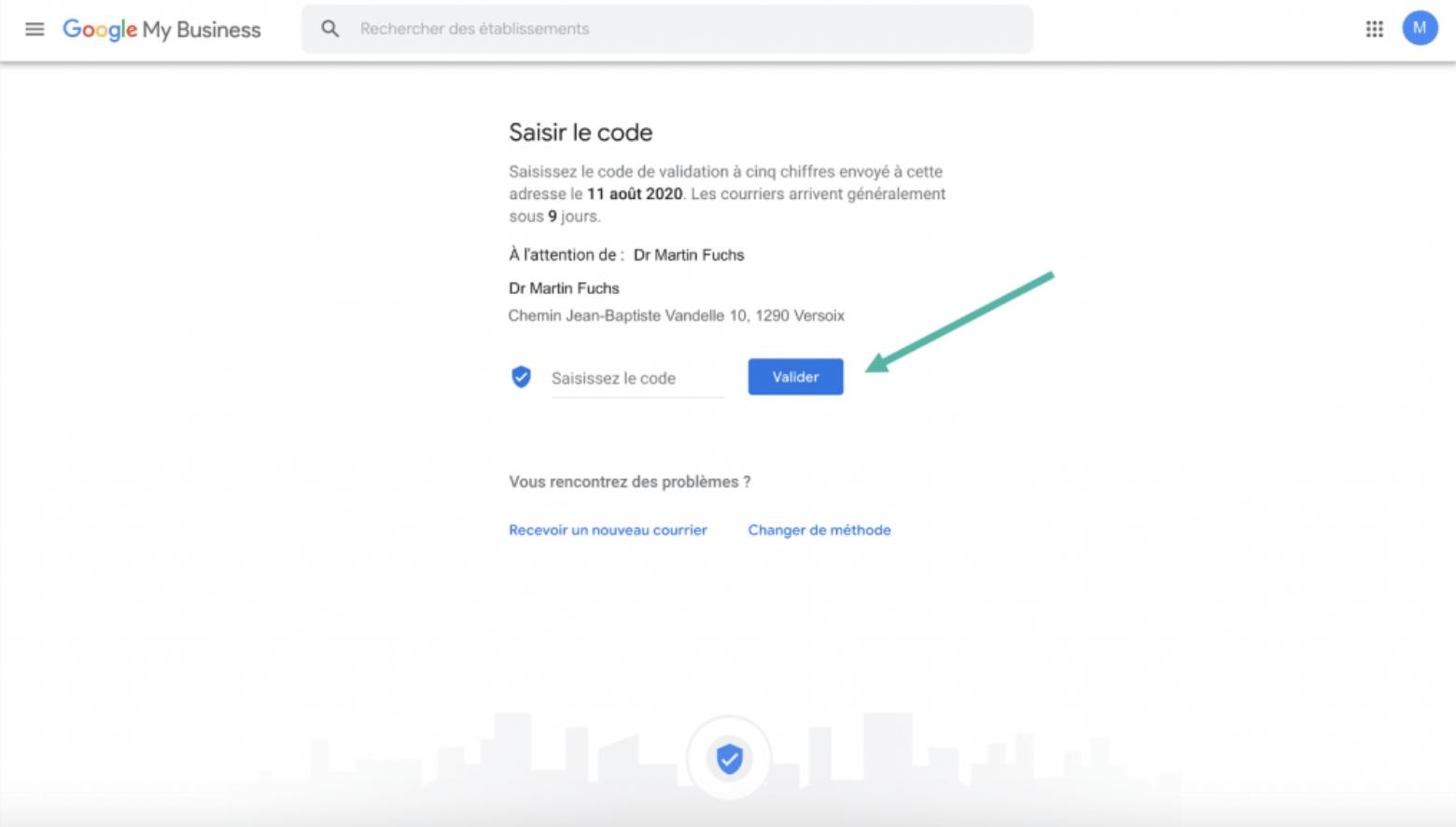 Google My Business - Google - étape 6