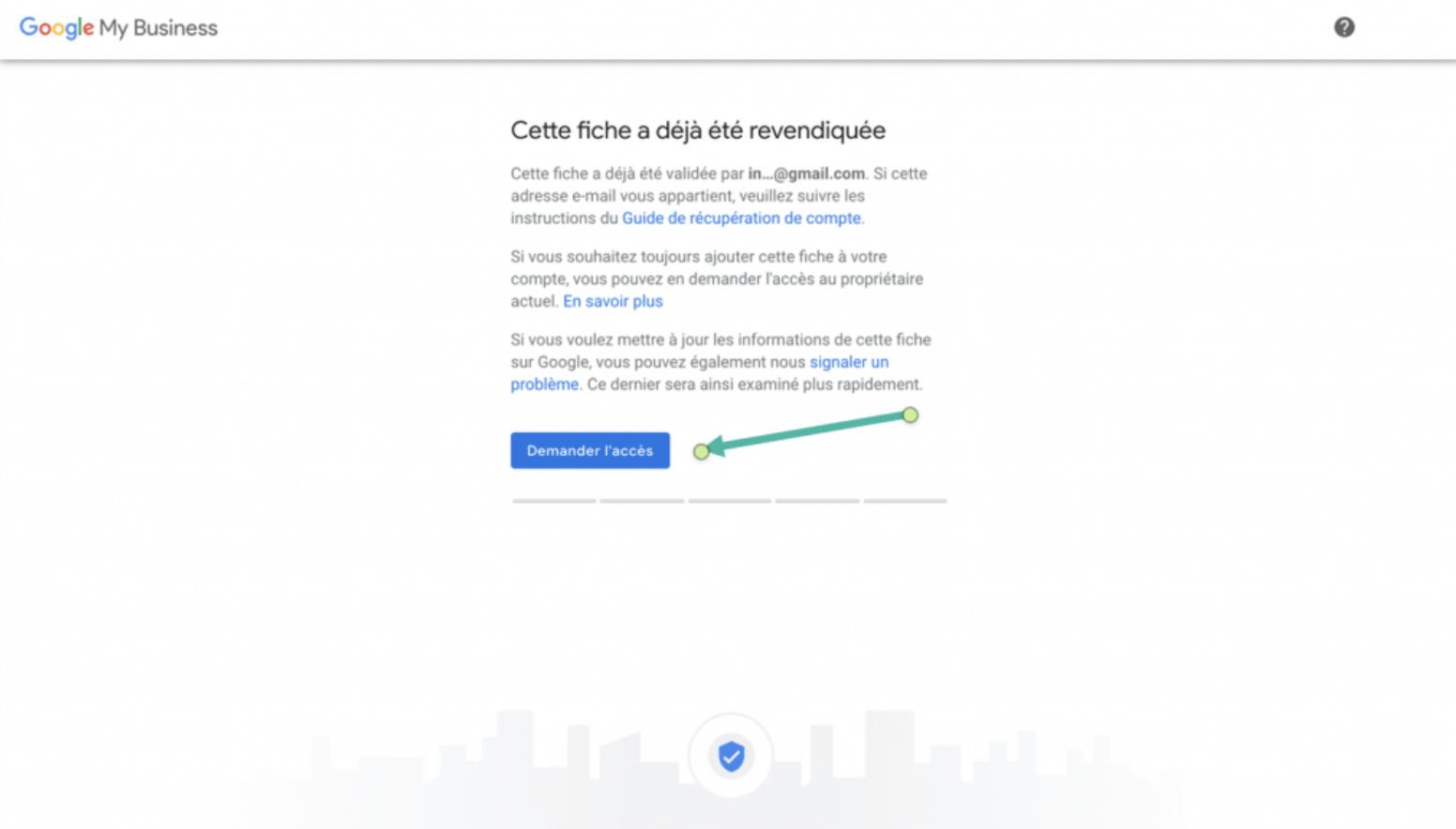 Google My Business - Google - étape x