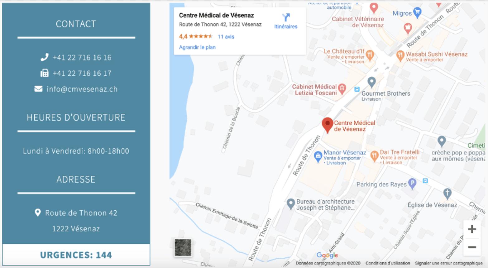Contact centre médical de Vésenaz