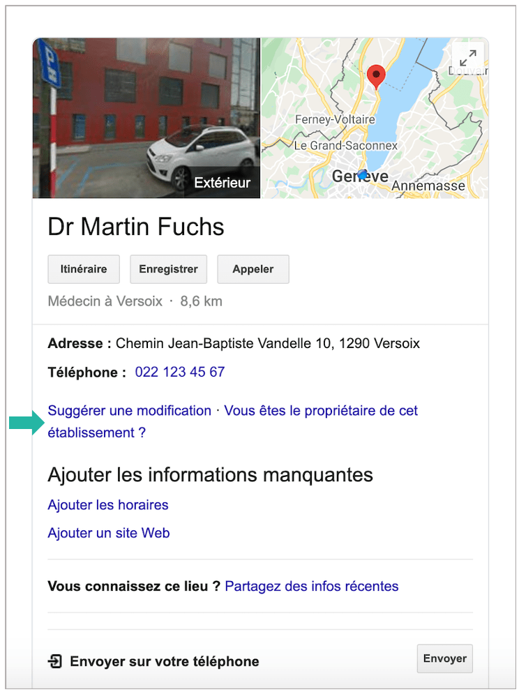 Google My Business - Google - etape 1