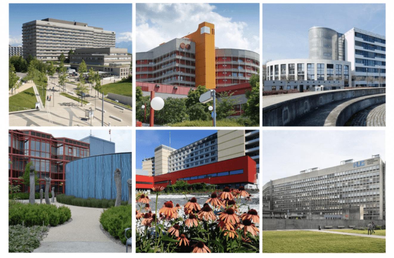 Hôpitaux publiques en Suisse Romande