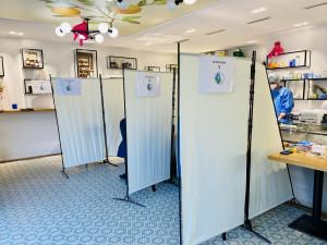 Testräume im Testzentrum von ApoDoc.